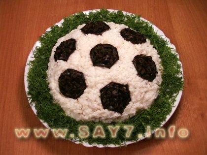 """Салат  """"Футбол """". ссылка.  Процитировано. в цитатник.  Вторник, 08 Ноября 2011..."""