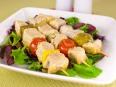 Шашлычки из свинины с овощами и грибами